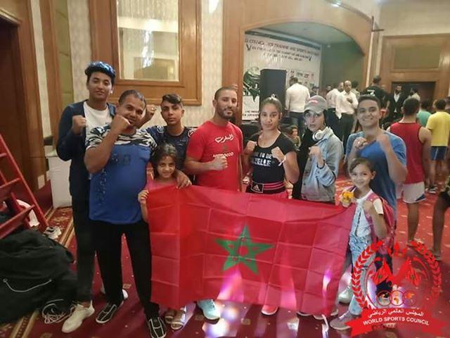 المنتخب المغربي للمجلس العالمي الرياضي ينتزع ثلاث ألقاب دولية ببطولة العالم للفنون القتالية بمصر