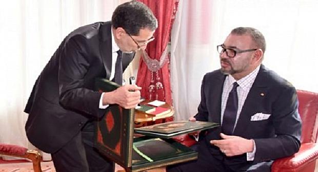 الملك محمد السادس و رئيس الحكومة العثماني