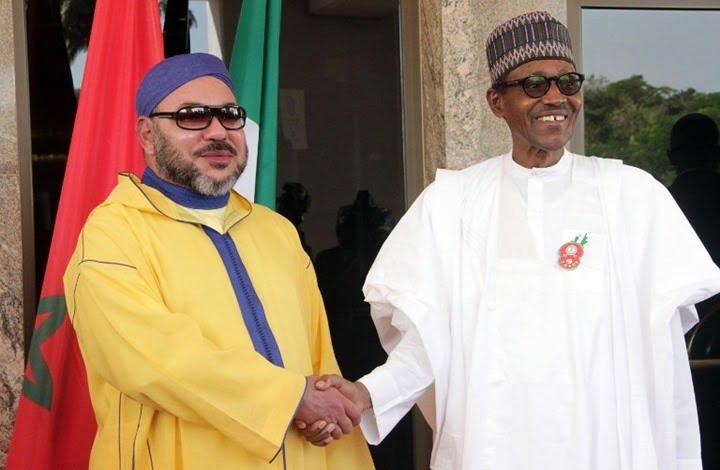 الملك محمد السادس ورئيس نيجيريا محمد بوهاري
