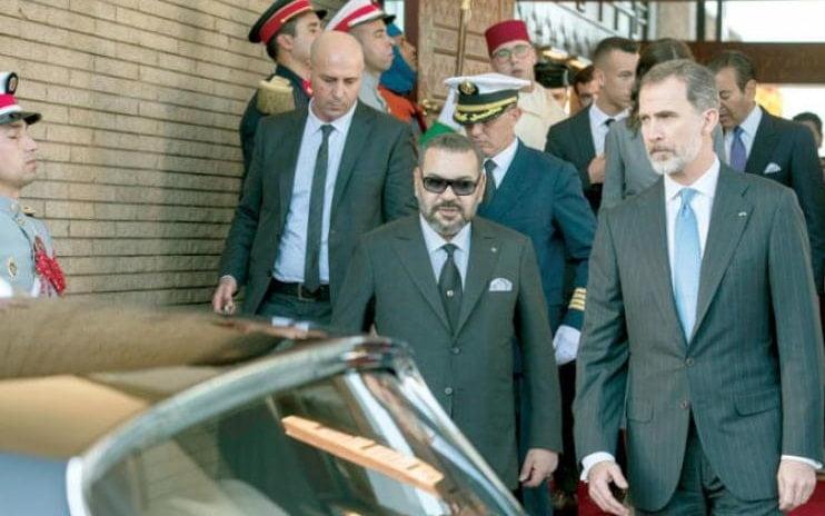 الملك محمد السادس رفقة ملك إسبانيا