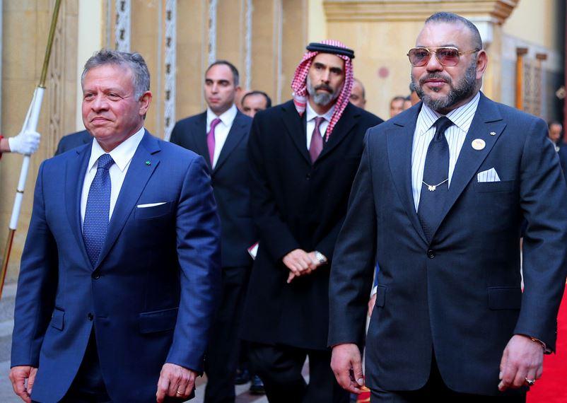 الملك محمد السادس والملك الأردني