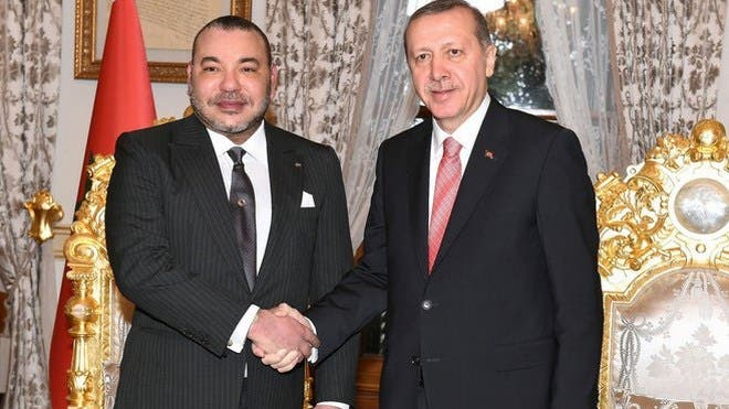 الملك محمد السادس وأردوغان