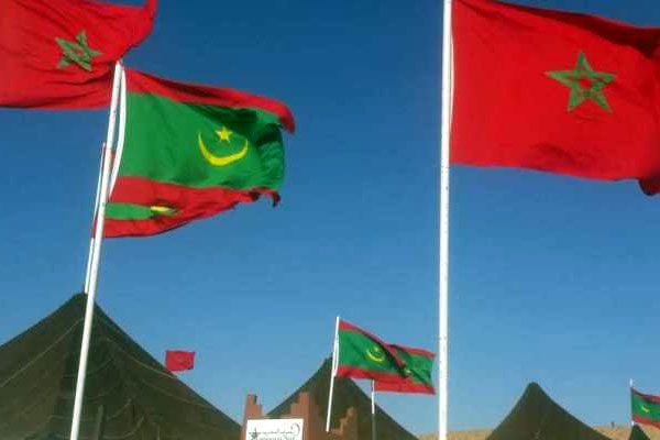 العلم المغربي وموريتاني