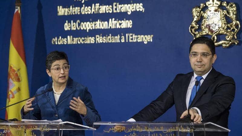 بوريطة رفقة وزيرة الخارجية الإسبانية